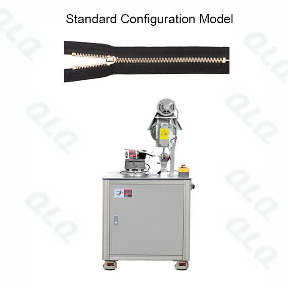 Semi-auto Metal Zipper Top Stop Machine by grain European shape top stop