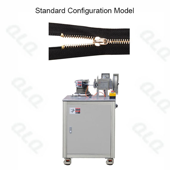 Semi-auto Metal Zipper Closed-end Top Stop Machine by grain U shape top stop