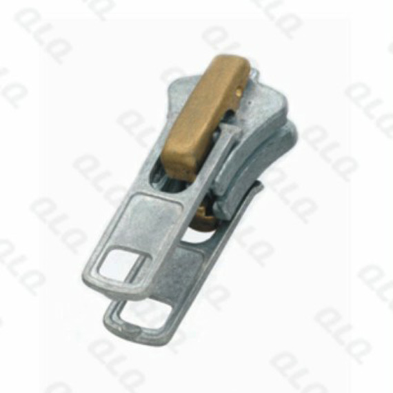 Auto-lock Zinc Slider with 5 Components Double Puller 2