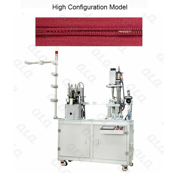 Automatic Invisible Zipper Double Trimming Gapping and Ultrasonic Teeth Melting Bottom Stop Machine(long model)
