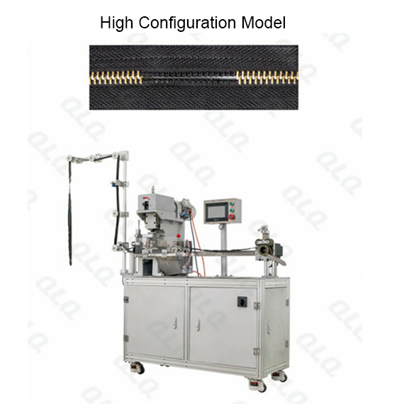 Automatic Metal Zipper Closed-end Double Trimming Gapping Machine long model