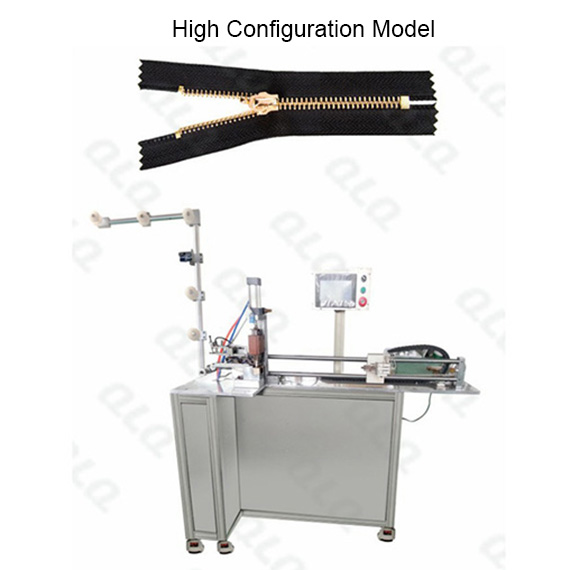 Automatic Metal Zipper Closed-end Zigzag Cutting Machine with labour hand