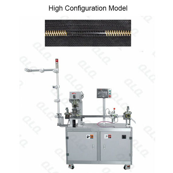 Automatic Metal Zipper Double Trimming Gapping Machine long model