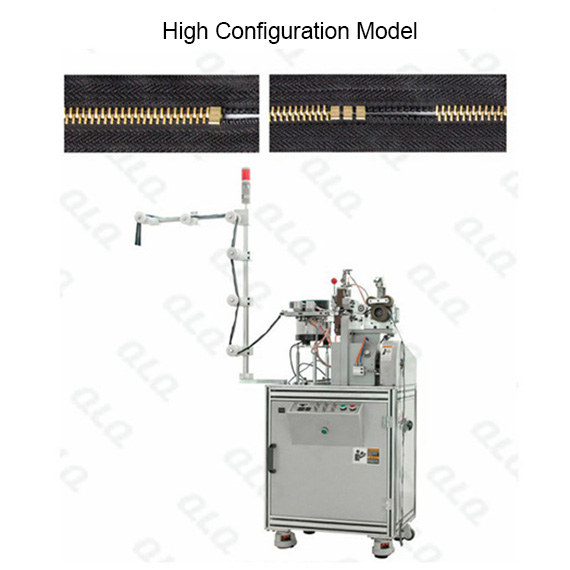 Automatic Metal Zipper H Bottom Stop Machine can fix mutiple pcs bottom stop