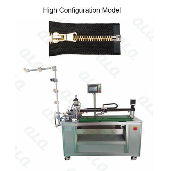 Automatic Metal Zipper Open-end Cutting Machine with labour hand