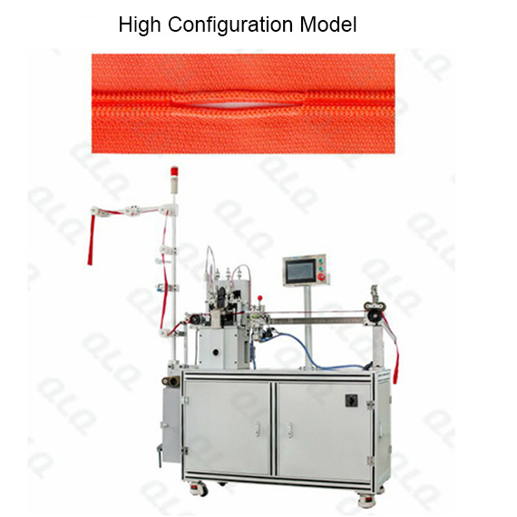 Automatic Nylon Zipper Double Trimming Gapping & Bottom Stop Machine(by aluminum  bottom stop wire)