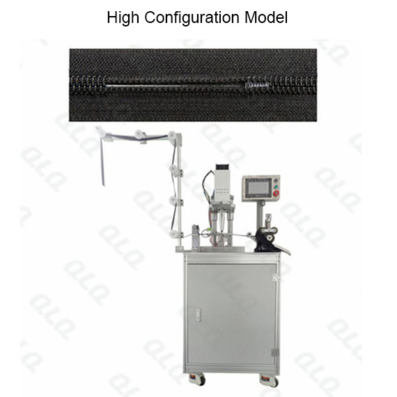 Automatic Nylon Zipper Ultrasonic Teeth Melting Bottom Stop Machine melt teeth directly without wire