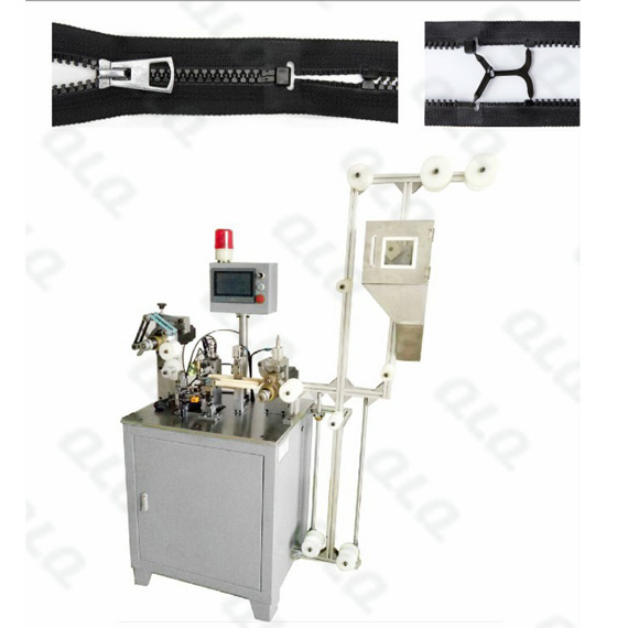 Automatic Plastic Zipper  Open-end Injection Waste Material Picking and Combination Machine