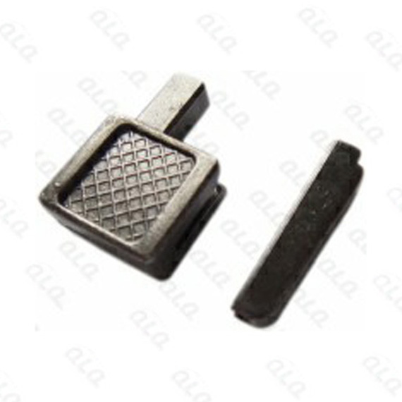 No 10 metal pin box with grid pattern