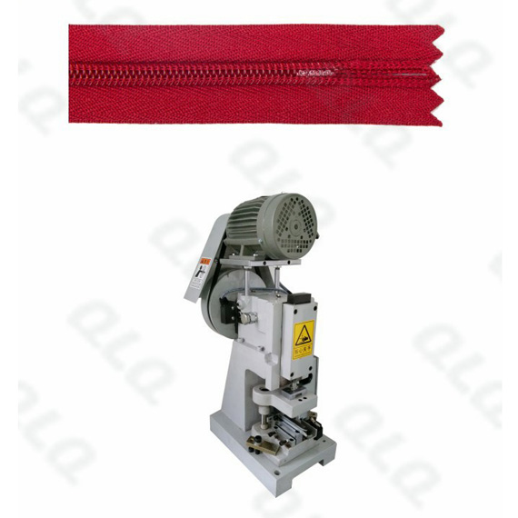 Semi-Auto Invisible Zipper Closed-end Zigzag Cutting Machine