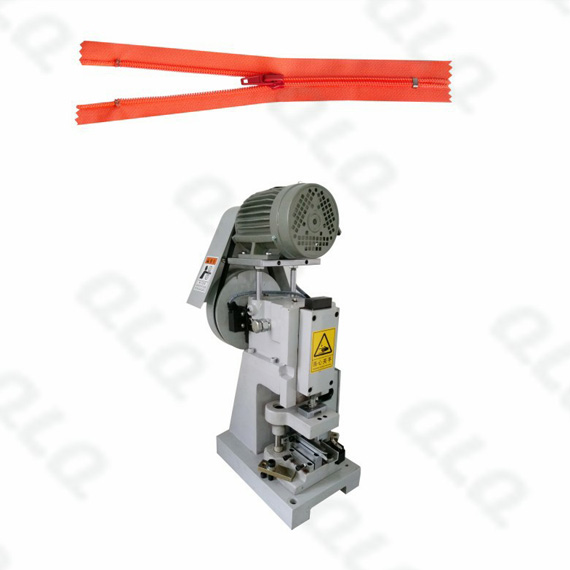 Semi-auto Nylon Zipper Closed-end Zigzag Cutting Machine