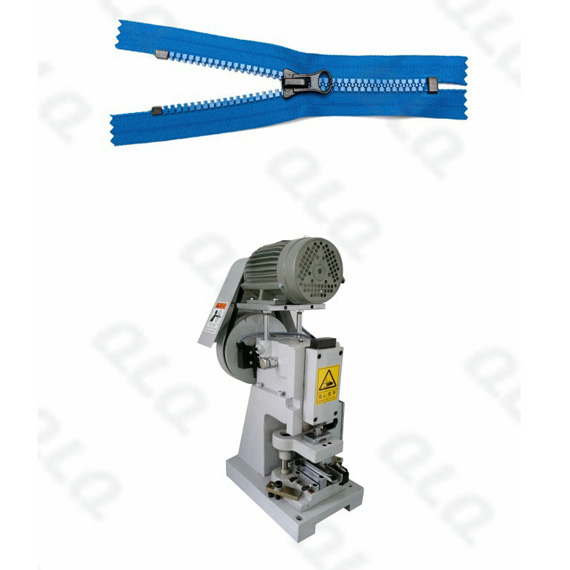Semi-auto Plastic Zipper Closed-end Zigzag Cutting Machine
