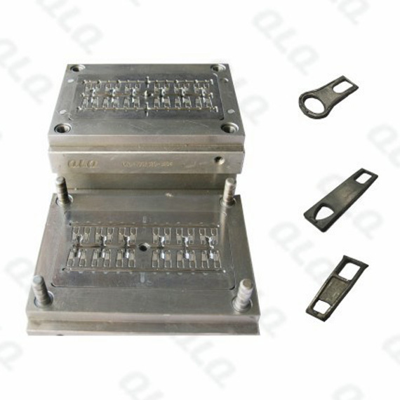Nylon zipper auto-lock slider standard puller mould