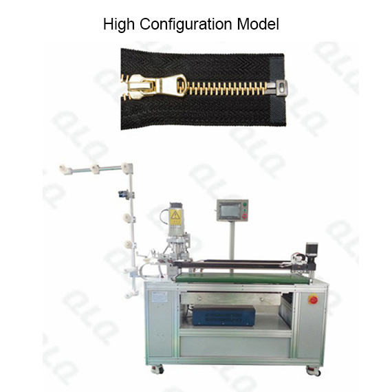 Automatic Metal Zipper Ultrasonic Open-end Cutting Machine with labour hand QLQ