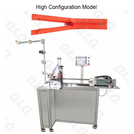 Automatic Nylon Zipper Closed-end Zigzag Cutting Machine with labour hand & touch screen QLQ