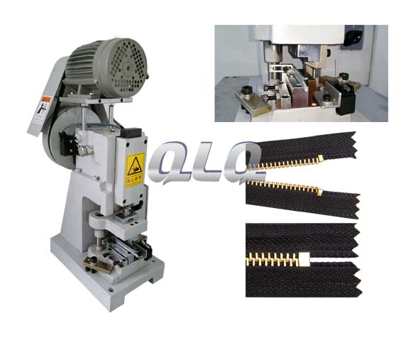 semi-auto-metal-zipper-closed-end-zigzag-cutting-machine